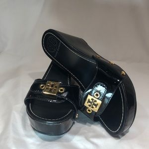 Tory Burch Leather Sliders // Black // size 6M